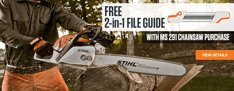Free 2-in-1 file guide with MS 291 chainsaw purchase